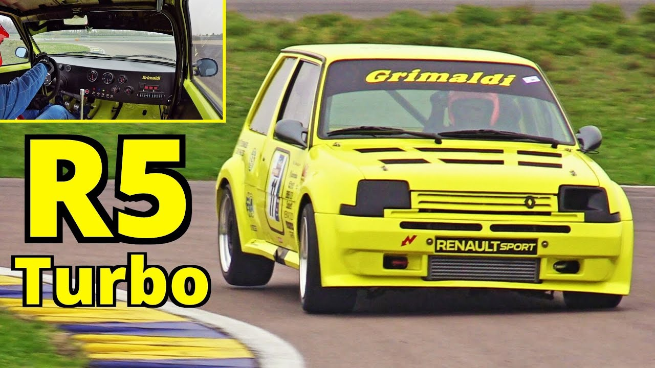300HP Renault 5 GT Turbo Proto E1 powered by its 1.4-litre engine + Onboard - Modena Circuit