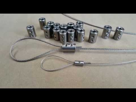 Stainless Steel Wire Rope Loop Clamp Grips - GSproducts.co.uk - YouTube