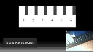Testing Pianoid sounds (1/6)