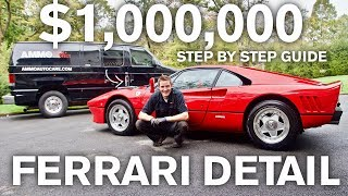 $1,000,000 Ferrari Paint Restoration and Car Detail