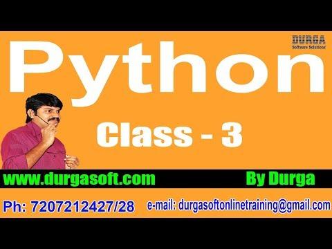 Learn Python Programming Tutorial Online Training by Durga Sir On 04-04-2018 @ 6PM thumbnail
