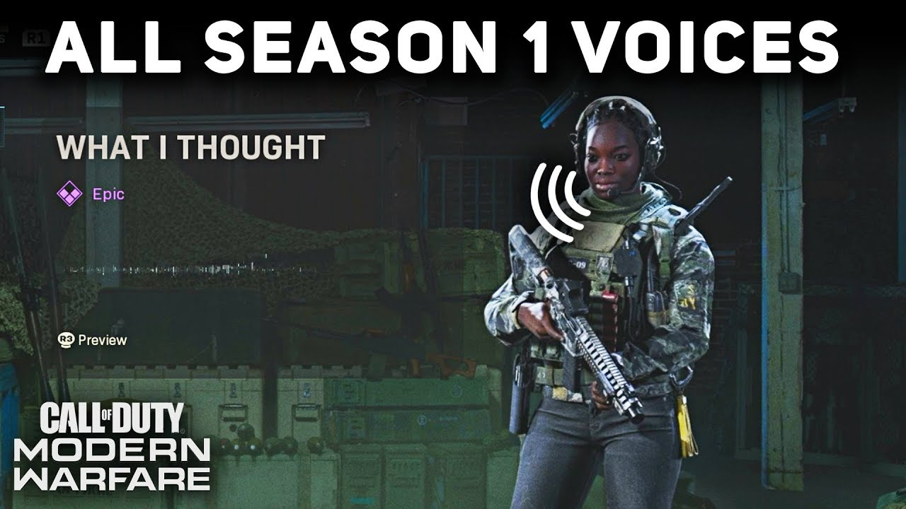 All Season 1 Operator Voices And Quips Showcase Call Of Duty