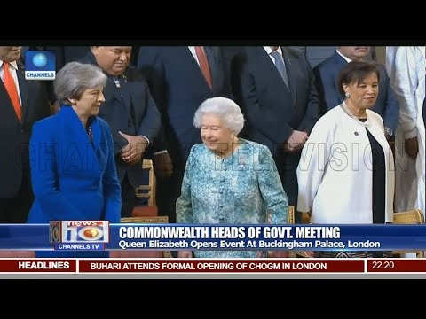 Queen Elizabeth Opens Commonwealth Heads Of Govt Meeting In London