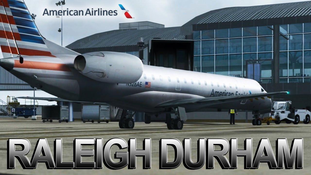 Fsx Hd American Airlines Erj 145 Raleigh Durham
