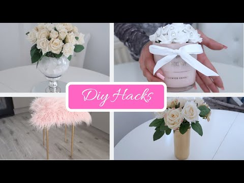 4 CHEAP & EASY DIY HACKS | HOME DECOR | IKEA DIY + POUNDLAND | + (DIY WEDDING CENTERPIECE)