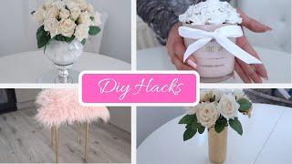 4 CHEAP & EASY DIY HACKS | HOME DECOR | IKEA DIY + POUNDLAND | + (DIY WEDDING CENTERPIECE)