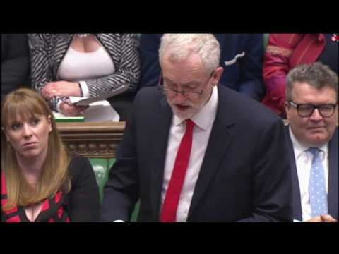 Jeremy Corbyn responds to Theresa May's article 50 statement - video