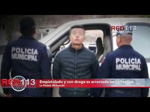 VIDEO Empistolado y con droga es arrestado en La Piedad