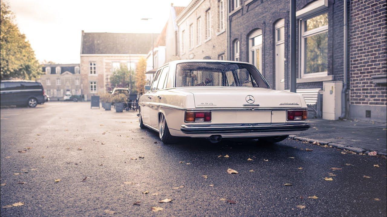 Sourkrauts   Wunderschöner Mercedes W114 auf Luft und 17 Zoll Custom Barock Felgen