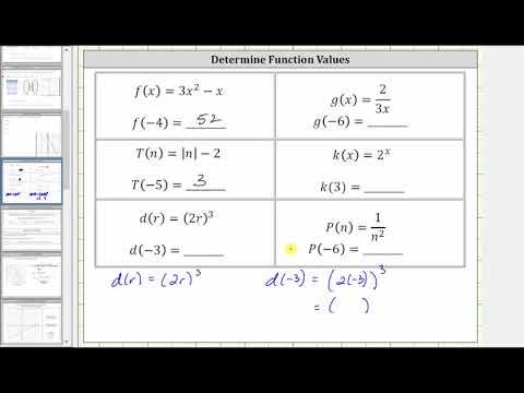 Determine a Variety of Function Values