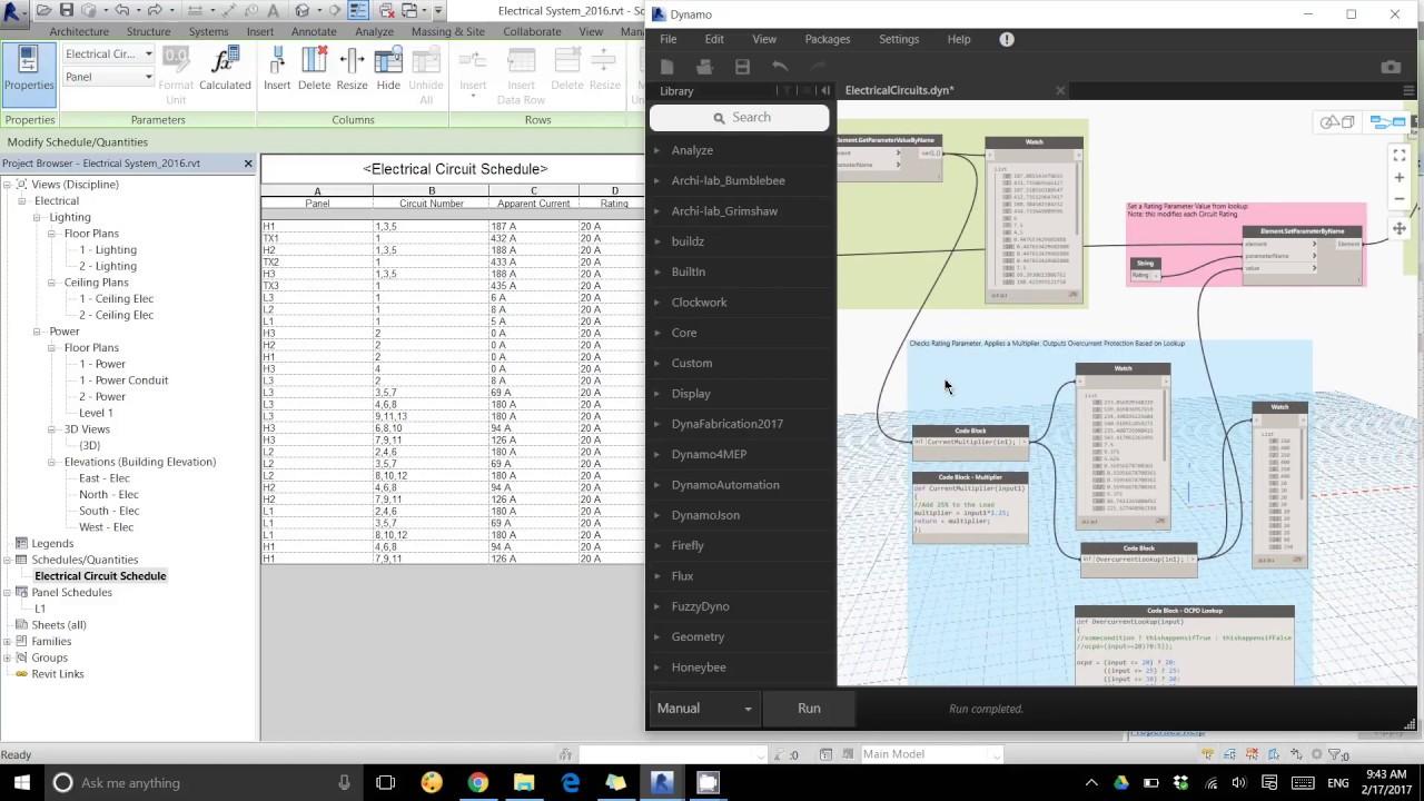 dynamo revit lookup table example electrical circuit ratings