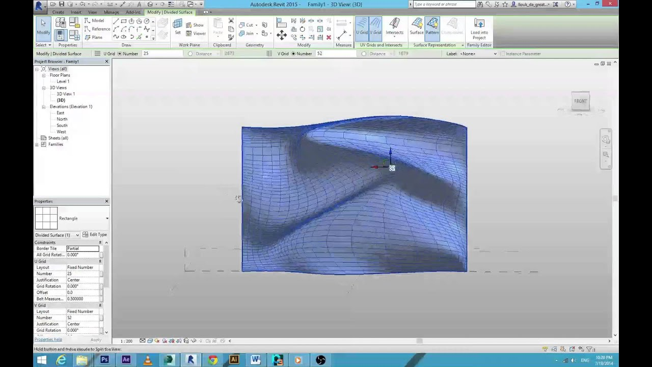 Quot Organic Quot Wall Revit Architecture Youtube