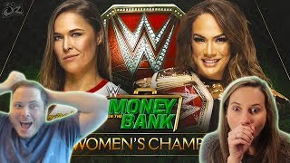 WWE Money in the Bank 2018 - Ronda Rousey vs Nia Jax - WWE RAW Women's Championship (vs Lugey! )