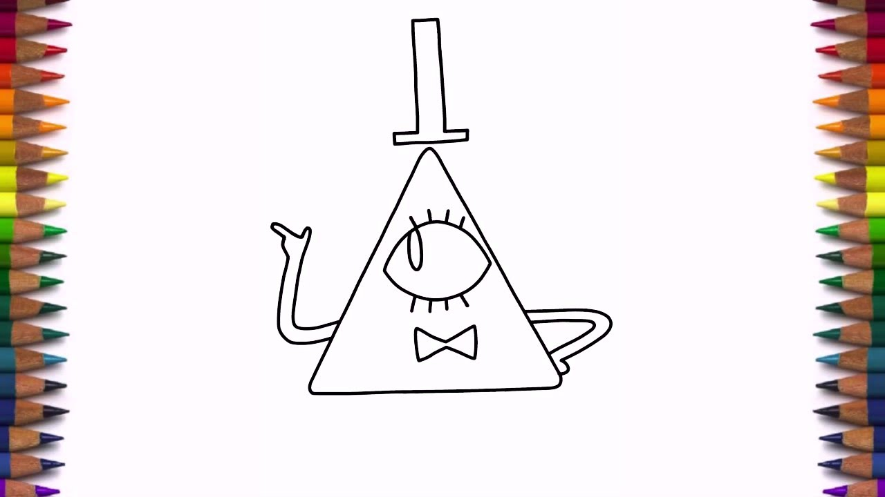 Como Dibujar A Tío Stan Gravity Falls: How To Draw Bill Cipher From Gravity Falls Characters