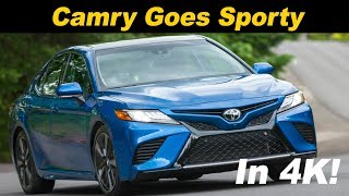 2018 Toyota Camry V6 Review and Road Test In 4K
