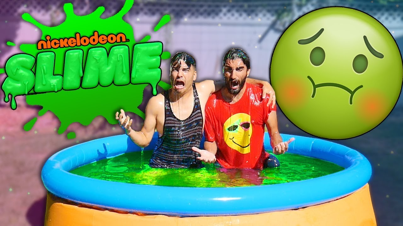pool-full-of-slime-testing-5-best-diy-slime-products-nickelodeon-slime-as-seen-on-tv