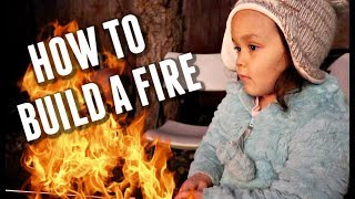 Kids learn how to build a fire -  ItsJudysLife Vlogs