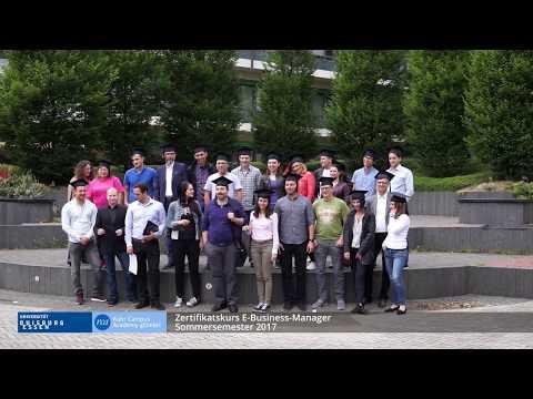 Zertifikatskurs E-Business-Manager Sommersemester 2017