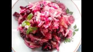 быстрый и не дорогой салат из квашеной капусты
