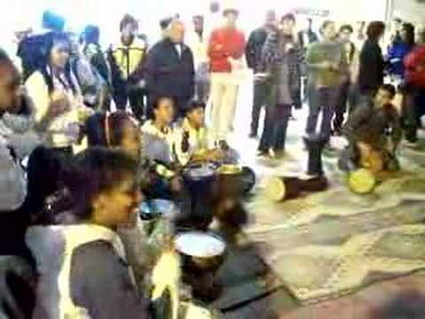 Ethiopian Jewish Israeli Drum Circle In Jerusalem