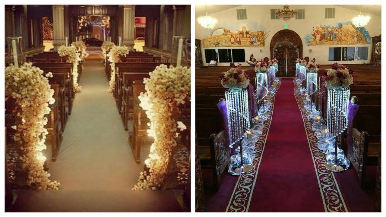 Wedding Arrangement With Flowers Church Wedding Decoration Ideas Youtube