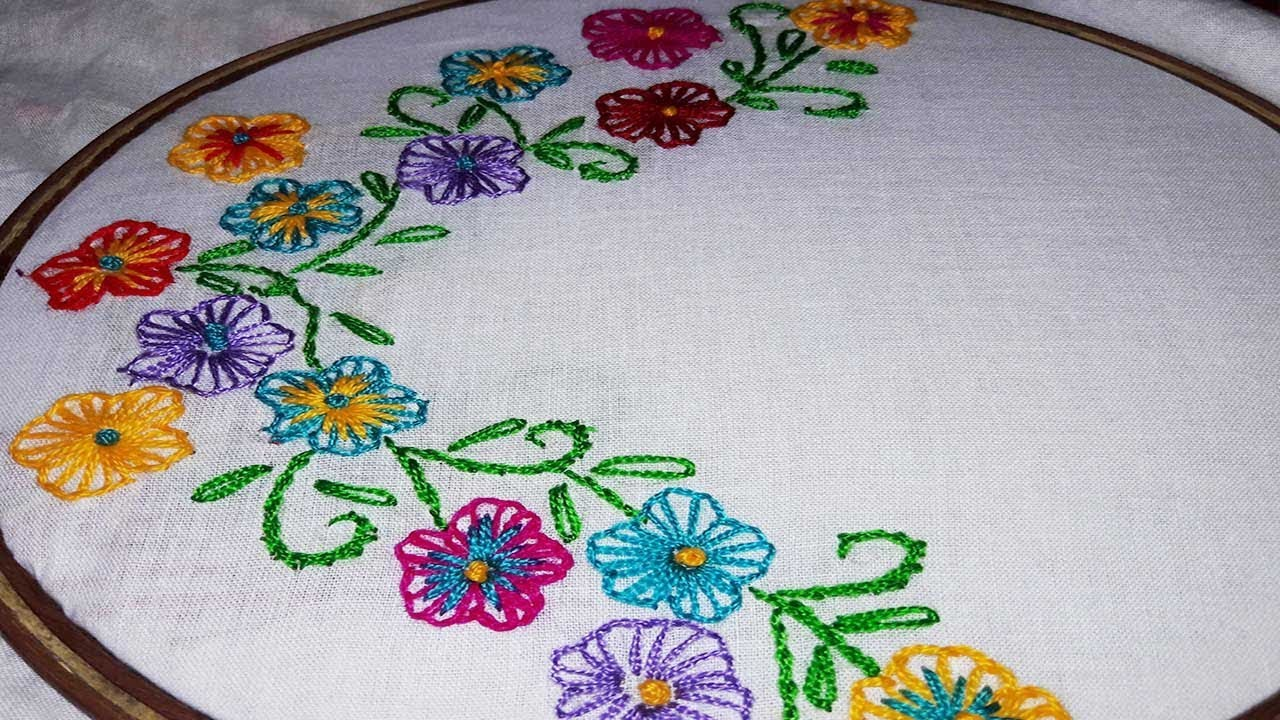 Hand Embroidery Chicken Stitch Neck Design For Dress Blouse