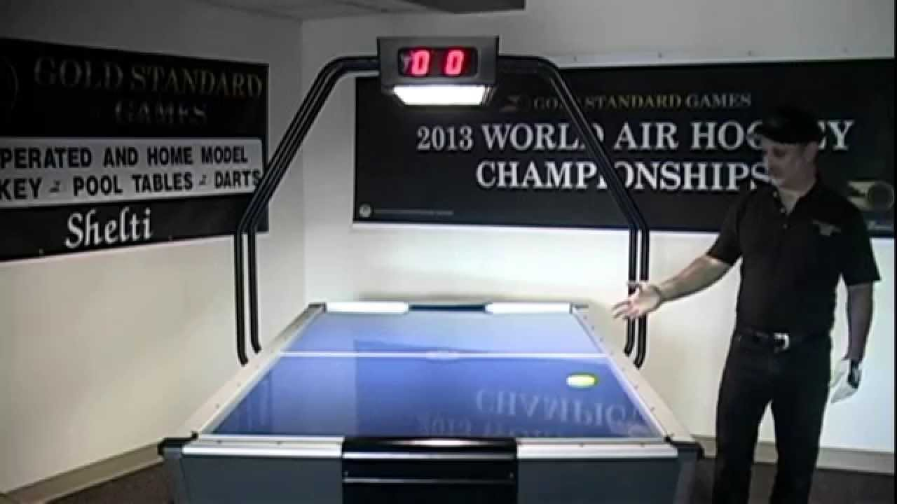 Tournament Pro Air Hockey Table by Gold Standard Games - YouTube
