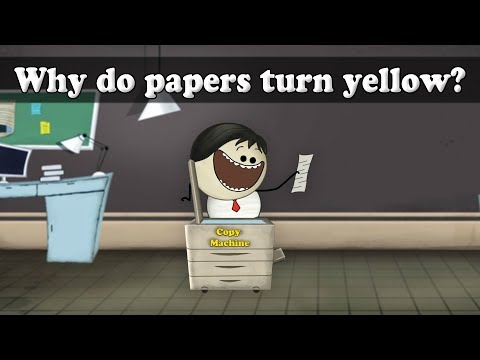 Oxidation - Why do papers turn yellow?