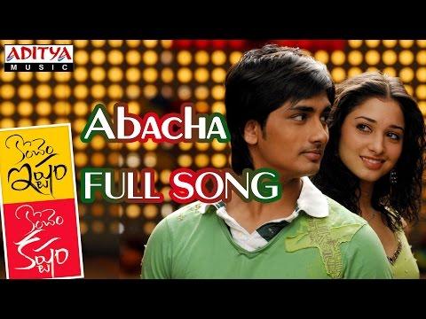 Konchem Ishtam Konchem Kashtam Movie Abacha Full Song || Siddharth, Tamanna
