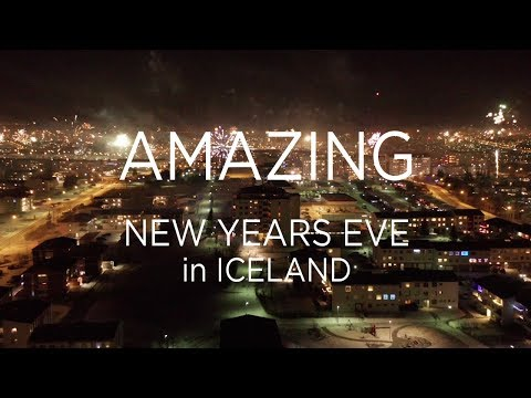 AMAZING New Years fireworks display in Iceland - Unlike everything you have seen.