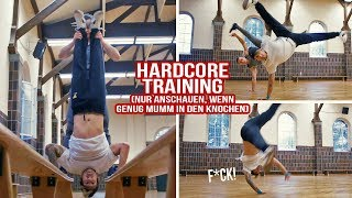 Breakdance Training aua hab Beule geholt
