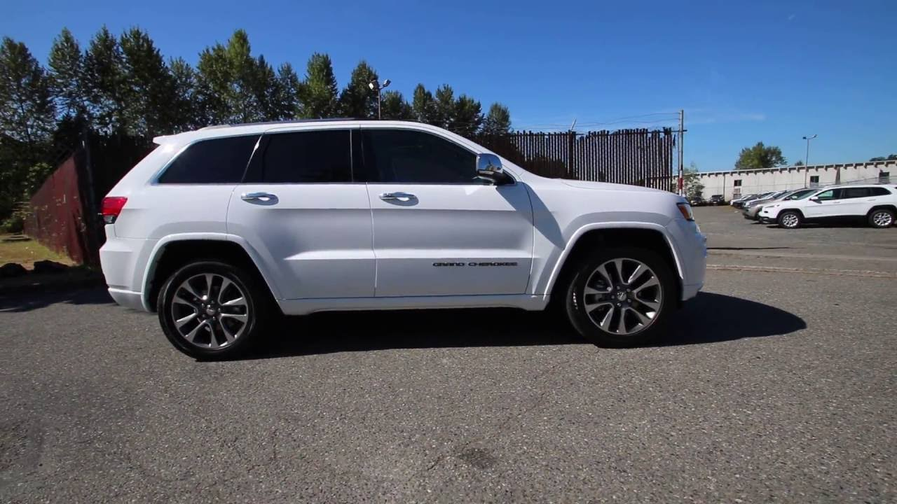 Jeep Grand Cherokee White 2017 >> 2017 Jeep Grand Cherokee Overland | Bright White Clearcoat | HC601943 | Redmond | Seattle - YouTube
