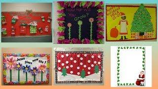 Christmas Display board designer border decoration ideas for school, home, office