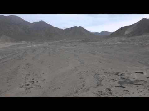 Top of Dune at Caral Supe ancient city, UNESCO Peru