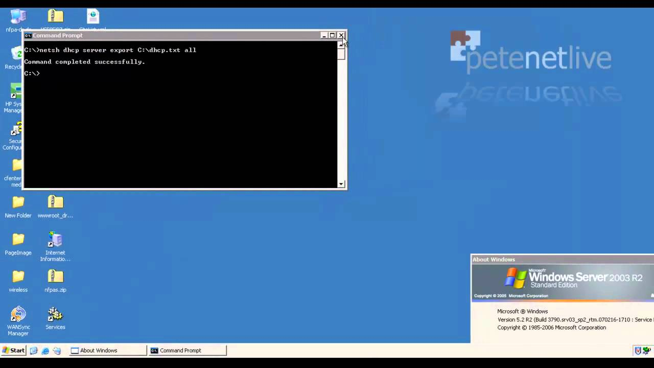 Windows Server - Migrating DHCP Scopes | PeteNetLive
