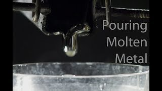 Pouring Molten Aluminium into Water - Slow Motion
