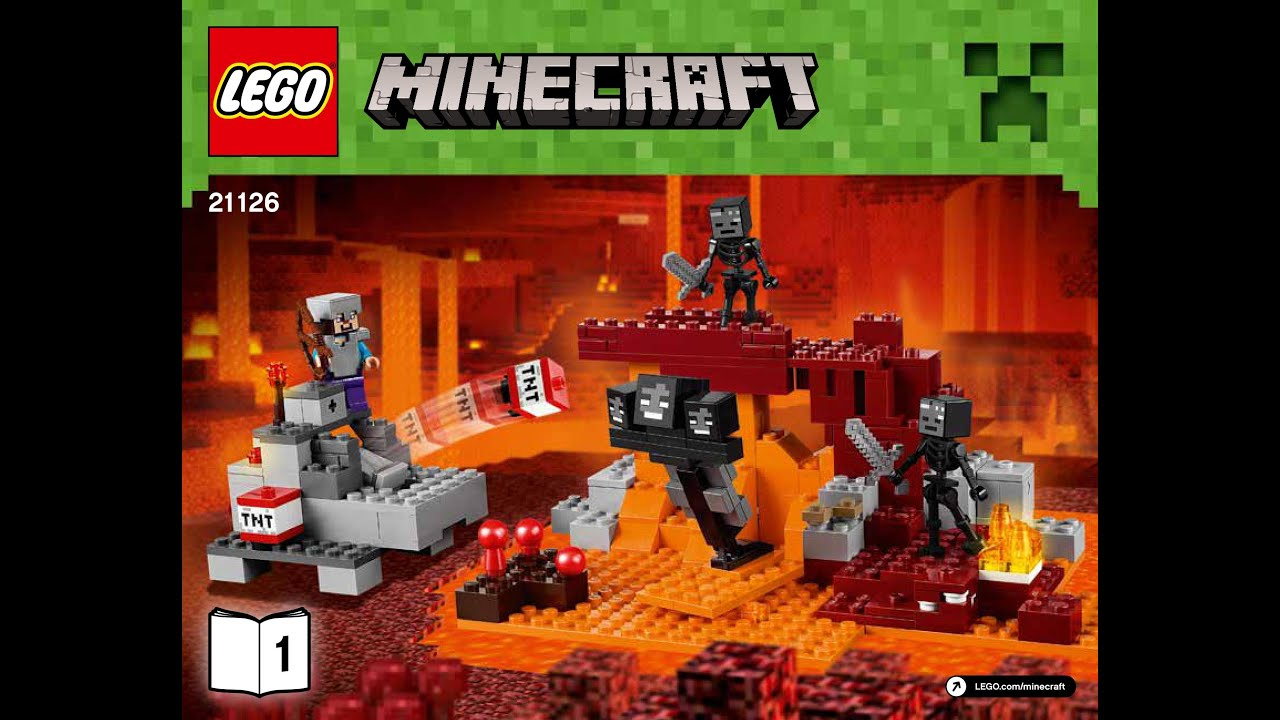Lego Minecraft The Wither 21126 Instructions Book 1 Diy Brick