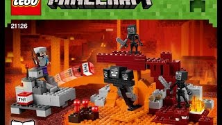 LEGO Minecraft The Wither 21126 Instructions Book 1 DIY Brick Building Kids