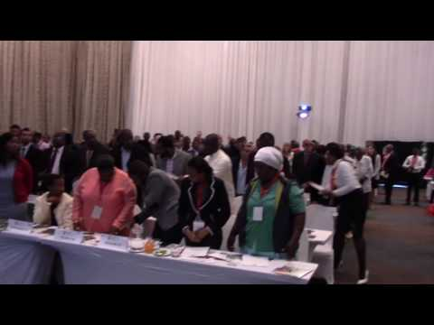 The new SA citizens take the South African Pledge during the 2017 Naturalization Ceremony