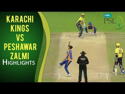 PSL 2017 Playoff 3: Karachi Kings Vs. Peshawar Zalmi Highlights