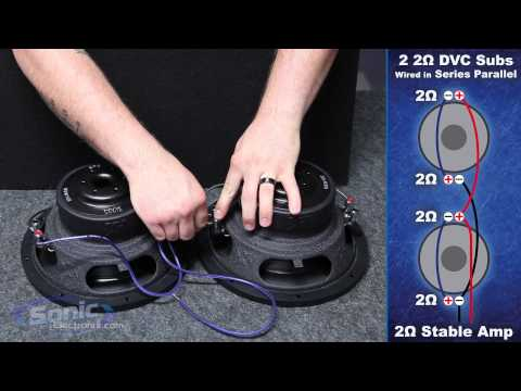 kicker 12 dual 2 ohm subwoofers amp car audio how to wire two dual 2 ohm subwoofers to a 2 ohm final impedance car