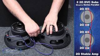 How to Wire Two Dual 2 ohm Subwoofers to a 2 ohm Final Impedance | Car Audio 101