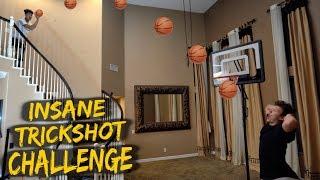 Crazy Indoor Trickshot Basketball Challenge vs. Jesser