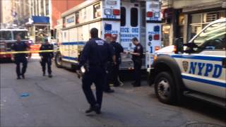 FDNY & NYPD ON SCENE OF DEADLY CONSTRUCTION ACCIDENT WHERE WORKER WAS CRUSHED TO DEATH IN NYC.