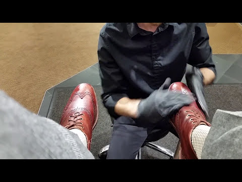 Best shoe shine in Denver, ASMR, POV