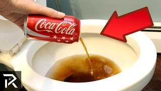 Repeat youtube video 10 Coca-Cola Hacks That Actually Work!