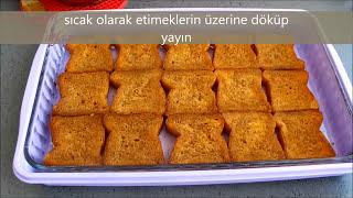Etimek tatlısı tarifi-Muhallebili kolay nefis etimek tatlısının yapılışı (karamelli)-Tatlı tarifleri