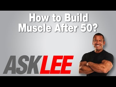 Ways to build muscle after 50
