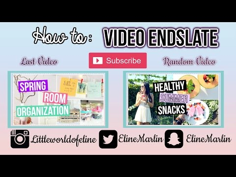 How To Make An End Card + Video Overlays For Windows Movie Maker Tutorial