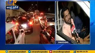 Heavy Traffic | Due to Accident @ Krishna Lanka | Public Facing Problems | in Vijayawada